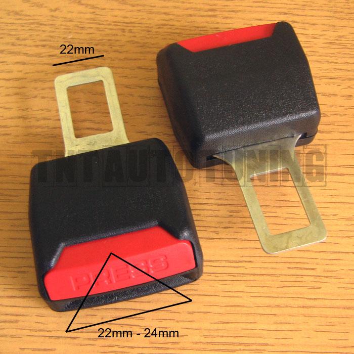 2 Boucle Ceinture De Sécurité Siège Rallonge Bip Stop Alarme Sonore 22-24mm Clip