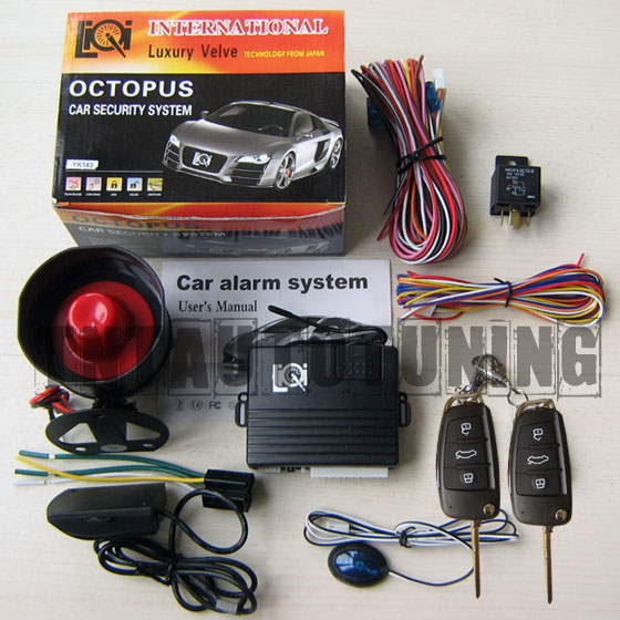 Car Alarm Security System   Remote Central Locking Kit Vw