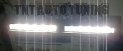 COPPIA LUCI DIURNE KIT DRL 2 x 4W 8 LED AUTO FARI Mazda MX3 MX5 MX6 RX5 RX7 R...